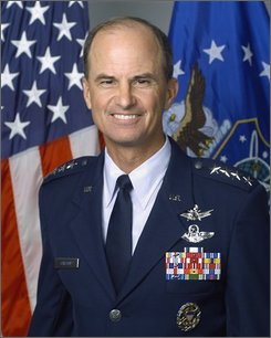 ** FILE This undated photo provided by the U.S. Air Force shows Gen. Kevin Chilton, commander of U.S. Strategic Command, which is responsible for maintaining the nation's nuclear war plans, is seen in the file photo, date unknown. The mighty U.S. arsenal of nuclear weapons, midwived by World War II and nurtured by the Cold War, is declining in power and purpose while the military's competence in handling the world's most dangerous arms has eroded. Defense Secretary Robert Gates, for one, wants the next president to think about what nuclear middle-age and decline means for national security. (AP Photo/U.S. Air Force)