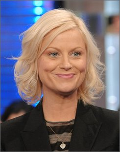 "Actress Amy Poehler makes an appearance on MTV's Total Request Live at MTV Studios in this Tuesday, April 22, 2008 file photo taken in New York. ""Saturday Night Live"" just won't be the same without Amy Poehler -- who delivered a baby boy Saturday Oct. 25, 2008  hours before she was to appear on the NBC show Poehler's spokeswoman, Kay Lewis said. (AP Photo/Evan Agostini, FILE)"