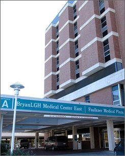 Bryan LGH Medical Center East is seen Oct. 27, 2008, in Lincoln, Neb. A 12-year-old from the Atlanta suburb of Smyrna, Ga., was dropped off by his mother at BryanLGH Medical Center East on Saturday, Oct. 25, 2008, under Nebraska's unique safe haven law, that lets anyone leave a child as old as 18 at a state-licensed hospital without fear of prosecution for the abandonment. He is the 20th child left at a Nebraska hospital since the law took effect in July.(AP Photo/Bill Wolf)