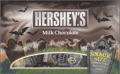 In this photo provided by Hershey's, a package of Tombstone Moulded chocolate bars is shown.  With a big pullback evident in consumer spending, candy makers were spooked about this year's Halloween season. But analysts say there's nothing to worry about. This year's Halloween will be bigger than ever as people seek a break from the turbulent economy and long campaign season. (AP Photo/Hershey's)