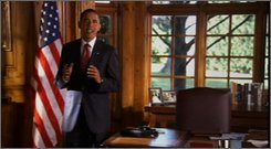 In this image from video provided by the Obama Campaign, Democratic presidential candidate Sen. Barack Obama., speaks during a live event in a 30-minute infomercial to be broadcast on prime-time television Wednesday, Oct. 29, 2008. (AP Photo/Obama Campaign)