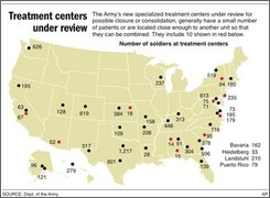 Map shows Army transition units including those that are under review;