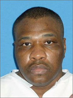 This photo provided by the Texas Department of Criminal Justice shows death row inmate Elkie Taylor who is scheduled for execution Thursday, Nov. 6, 2008 at the Texas prison in Huntsville. Taylor, 46, was set for lethal injection for the 1999 Fort Worth, Texas, slaying of a 65-year-old mentally ill man found with his hands and feet tied and two coat hangers wrapped around his throat. (AP Photo/Texas Department of Criminal Justice)