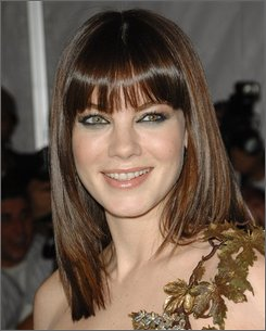 In this May 5, 2008 file photo, actress Michelle Monaghan arrives at the Metropolitan Museum of Art's Costume Institute Gala in New York. (AP Photo/Evan Agostini, file)