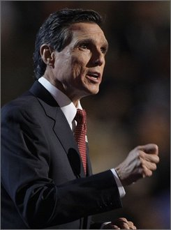 "In this Aug. 26, 2008 file photo, former Secretary of Energy and Transportation Federico Pena speaks at the Democratic National Convention in Denver.  ""Without the Latino vote, we would not have won those states,"" said Pena, Denver's first Hispanic mayor and a national co-chairman of the Obama campaign about Democratic wins in the battleground states of Colorado, Nevada, New Mexico and Florida.   (AP Photo/Paul Sancya, File)"