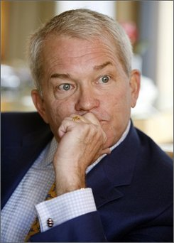 Former Rep. Mark Foley, R-Fla., is interviewed in New York, Monday Nov. 10, 2008. Even two years after Mark Foley's public fall from grace, the former congressman can't explain why he sent lurid computer messages to former male Capitol Hill pages. (AP Photo/Richard Drew)