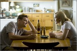 "In this image released by Paramount Vantage, Leonardo DiCaprio, left, and Kate Winslet are shown in a scene from, ""Revolutionary Road."" (AP Photo/Paramount Vantage, Francois Duhamel)"