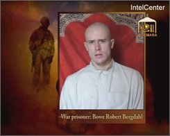 This is an image from video made available by IntelCenter shows a video frame grab from the Taliban propaganda video released Friday Dec. 25, 2009 purportedly showing U.S. soldier Pfc. Bowe Bergdahl, 23, of Ketchum Idaho who was captured more than five months ago in eastern Afghanistan.It could not be confirmed immediately that it was Bergdahl in the new video, which was released to The Associated Press and other news organizations. The man identifies himself as Bergdahl, born in Sun Valley, Idaho, and gives his rank, birth date, blood type, his unit and mother's maiden name before beginning a lengthy verbal attack on the U.S. conduct of the war in Afghanistan and its relations with Muslims. (AP Photo/via IntelCenter) IntelCenter Logo must not be cropped NO SALES