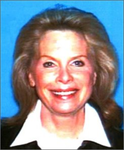 FILE - This undated photo released by the California Department of Motor Vehicles shows Hollywood publicist Ronni Sue Chasen, who was shot to death Nov. 16, 2010,  in her Mercedes-Benz in a Beverly Hills neighborhood. The mayor of Beverly Hills says detectives believe a Chasen was probably shot from another vehicle, possibly an SUV, in a targeted hit.(AP Photo/California Department of Motor Vehicles, File)