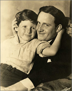 John Tracy with his father, actor Spencer Tracy. The younger Tracy died Friday.