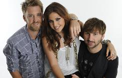Charles Kelley, left, Hillary Scott, and Dave Haywood of Lady Antebellum.