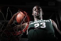 Draymond Green averaged 9.9 points last season for Michigan State in helping them reach the Final Four, where the Spartans lost to Butler.