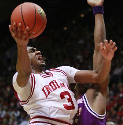 Indiana guard Maurice Creek shoots against Northwestern State during a game last season. Creek injured his knee in the Hoosiers' 12th game of the 2009-10 season, but now he's back and feeling good.