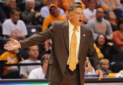 """""""I'm confident that we've done a great deal to send out a very strong message, to myself, that when you break the rules, when you provide false and misleading information, these are the penalties that occur,"""" Tennessee coach Bruce Pearl says of his eight-game SEC suspension."""