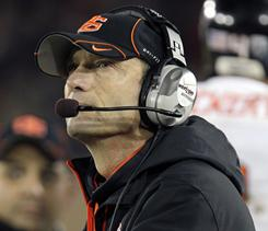 """I think everybody understands where Oregon is and what's on the line for them,"" Oregon State coach Mike Riley says. ""We've had plenty of work against very good opponents, but this one provides the biggest, toughest challenge."""