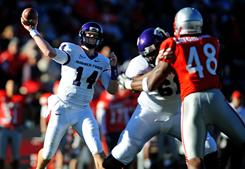Andy Dalton has won 41 games as the starting quarterback at TCU, shattering the school record of legendary QB Sammy Baugh, who won 29 games from 1934-36.