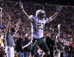 Oregon wide receiver Jeff Maehl has 24 career touchdown catches for the Ducks and has caught a pass in 33 straight games heading into the BCS national championship game against Auburn.