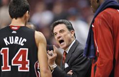 Rick Pitino has led the Louisville Cardinals to a 14-3 record this season, making his squad one of seven Big East teams ranked in the USA TODAY/ESPN Top 25 coaches poll.