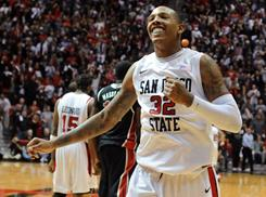 Billy White and the San Diego State Aztecs are still unbeaten and are ranked No. 6 in the country. But can the Aztecs go deep in the NCAA tournament?