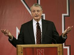 Nebraska athletics director Tom Osborne said the school is fully committed to its men's basketball program.