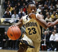 Purdue's Lewis Jackson drives to the basket during the Boilermakers' victory over No. 3 Ohio State Sunday in West Lafayette, Ind.