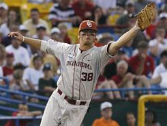 "Oklahoma coach Sunny Golloway says junior third baseman Garrett Buechele has a ""great baseball IQ"" and has ""hearned to let the game come to him."" Buechele is hitting .492 with five home runs and 23 RPI for the undefeated Sooners."