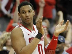 Hey, baby! After an amazing season in college basketball, expect Jared Sullinger and the Ohio State Buckeyes to cut down the nets in Houston.