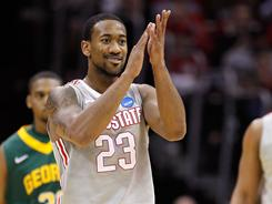 Ohio State's David Lighty hit all seven of his three-point attempts and tallied 25 points as the Buckeyes drilled George Mason 98-66.