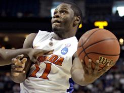 Florida's Erving Walker scored 21 points for the Gators in their third-round victory over UCLA. He might need another such performance to help his team get past BYU in the Sweet 16.