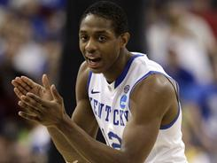 """I feel confident in any game we play ..."" Kentucky's Brandon Knight says. ""Some nights, shot will fall; some nights they won't. My best thing to do is to come out and play like I always play."""