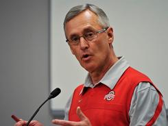 Ohio State AD Gene Smith said Tuesday that the $250,000 fine levied against football coach Jim Tressel may not cover the cost of the school's investigation into the issues surrounding NCAA violations committed by five of its football players.