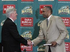 Paul Hewitt was introduced Monday as the new head coach at George Mason, where he replaces Jim Larranaga.