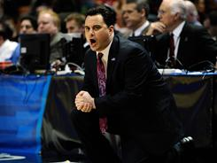"""Sean Miller says he is at Arizona for the """"long haul"""" after reports said he was a candidate for the coaching vacancy at Maryland."""