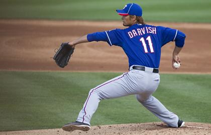 YU DARVISH keeps his cool in two-inning, scoreless debut