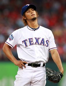 YU DARVISH roughed up, but rights himself for first win