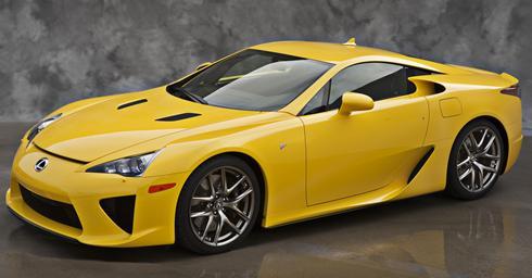 Yellow Sports Car Images a Banana-yellow Lexus Lfa