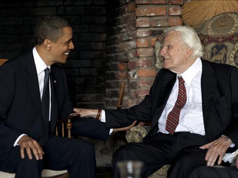 God, golf, and loneliness: Obama and Bill Graham finally meet