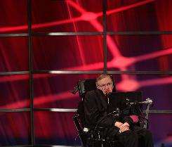 In his newest book, renowned physicist Professor Stephen Hawking, shown here in June at the Perimeter Institute for Theoretical Physics in Waterloo, Ontario, Canada, says that God was not necessary for creation.