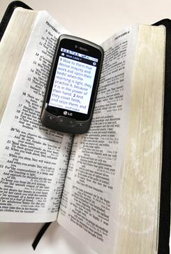The world's most popular Bible program for mobile phones was developed by an Oklahoma church. In an 11-day period in late December, a million people downloaded the app, which is available on iPhone, Blackberry, Android and other mobile phone platforms.