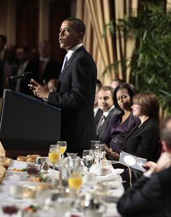 The annual national prayer breakfast, where President Obama is shown speaking last year, is being protested by gay rights activists who say the breakfast sponsors contributed to violence against gays in Uganda by sponsoring anti-gay ministries there.