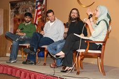 """""""Aliens in America"""" staff writers Sameer Asad Gardezi, Moses Port and David Guarascio consulted with Edina Lekovic, the  communications director for the Muslim Public Affairs Council in 2007. Now MPAC is expanding it's workshops to train future screenwriters."""