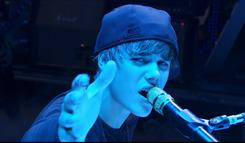 "Justin Bieber, shown in an image from his new film ""Never Say Never,"" speaks freely about his faith life in the movie that opens nationwide Friday."