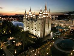 Mormon Temple in Salt Lake City is the best known symbol of the faith that is core to a new Broadway musical, 'The Book of Mormon.'