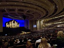 Thousands attending the 181st Annual General Conference oft The Church of Jesus Christ of Latter-day Saints in Salt Lake City, Utah, on Sunday heard about Mornon church growth and new temples planned.