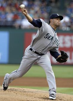 Newly acquired pitcher Ian Snell made his first start with the Mariners on Sunday, allowing two runs in six innings. He could thrive at pitcher-friendly Safeco Field, where management is emphasizing defense.