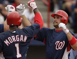 If spring training is any indication, Nationals third baseman Ryan Zimmerman will continue to shine at the plate like he did in 2009. Zimmerman belted six homers and four doubles in 56 spring at-bats. His improved average vs. right-handers is crucial to his success.