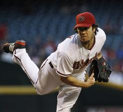 Diamondbacks pitcher Dan Haren has been striking out batters at a career-best rate, but a flurry of home runs has elevated his ERA and a poor bullpen has cost him several wins.