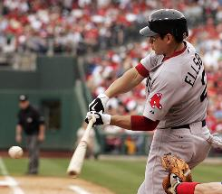 Red Sox outfielder Jacoby Ellsbury, hitting a single May 23, should provide a boost in stolen bases when he returns from the DL.