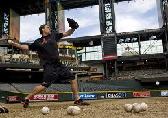Diamondbacks pitcher Brandon Webb has missed most of the past two years with various shoulder ailments but was a workhorse from 2005 to 2008, averaging more than 230 innings and seven strikeouts per game. He will be a free agent this winter.