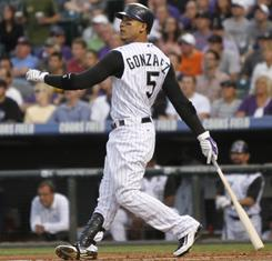The Rockies' Carlos Gonzalez hit a National League-best .336 with 34 homers and 117 RBI. For fantasy owners, the question is whether he's a true star or a one-year wonder.